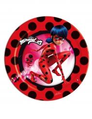 Ladybug™-Pappteller Lizenzartikel Miraculous™ 8 Stück bunt 18 cm