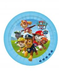 Paw Patrol™ Papp-Teller Kindergeburtstag 8 Stück bunt 23cm