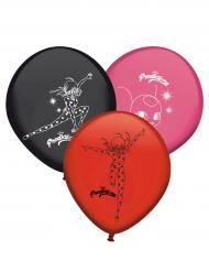 Ladybug™-Luftballons aus Latex Lizenzartikel 8 Stück bunt 29 cm