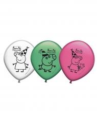 Peppa Wutz™Luftballon-Set Kindergeburtstag 8 Stück bunt 30cm