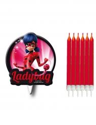 Ladybug™-Geburtstagskerzen Lizenzartikel 7-teilig bunt