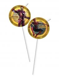 Avengers Infinity War™-Strohhalme 6 Stück bunt