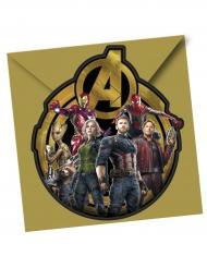 Avengers™-Einladungskarten und Briefumschläge 12-teilig bunt
