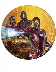 Avengers Infinity War™-Pappteller Tischdekoration 8 Stück bunt 20cm