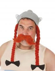 Obelix™-Helm mit Zöpfen Asterix und Obelix™-Lizenz grau-orange