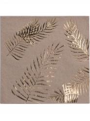 Kraftpapier Servietten tropische Palmen Partyzubehör 16 Stück braun