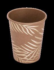 Palmen-Trinkbecher Tischzubehör 8 Stück braun-beige 200ml