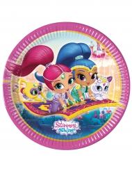 Shimmer & Shine™ Pappteller Kindergeburtstag 8 Stück bunt 23 cm