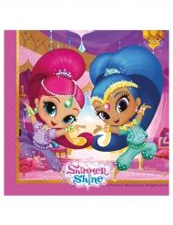 Shimmer and Shine™-Servietten für Kindergeburtstage 20 Stück bunt