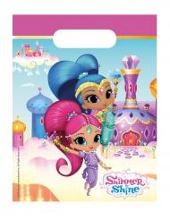Shimmer and Shine™-Geschenk-Tüten Kindergeburtstag 6 Stück bunt 23x16,5cm