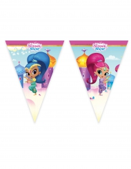 Shimmer and Shine™-Wimpelgirlande Raumdekoration für Kinder bunt 2,30m