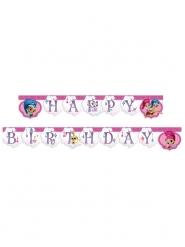 Shimmer & Shine™ Happy Birthday Girlande Deko pink 2m