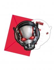 Ant Man™-Briefumschläge & Einladungskarten 6 Stück rot-silber 14x9cm