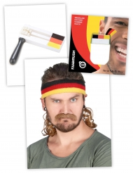 Deutschland Fan-Set Schminke Ratsche Stirnband