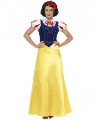 Märchenprinzessin Kostüm für Damen blau-rot-gelb