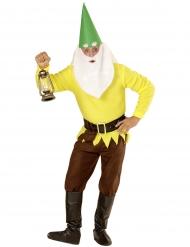 Tüchtiger Zwerg Kostüm für Herren Märchen bunt