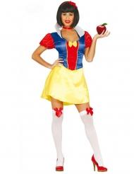 Hübsche Märchenprinzessin Damenkostüm rot-blau-gelb