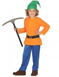 Fleißiger Zwerg Kostüm für Kinder bunt