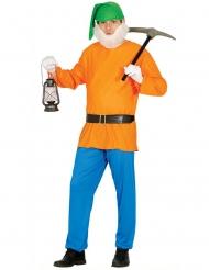 Fleißiges Zwergen-Kostüm für Erwachsene bunt