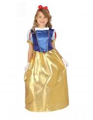 Märchenhafte Prinzessin für Mädchen Faschingskostüm blau-rot-gold
