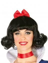 Märchen-Prinzessinnen Perücke für Damen schwarz-rot