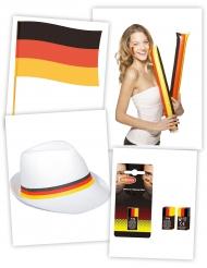 Fanartikel-Set Deutschland 4-teilig schwarz-rot-gold