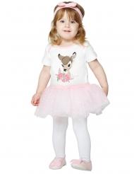 Niedliches Bambi™-Kleinkinder-Kostüm weiss-rosa