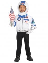 Astronauten Kostüm für Kinder 4-teilig weiß