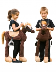 Pony Pferd Carry Me Kostüm für Kinder braun