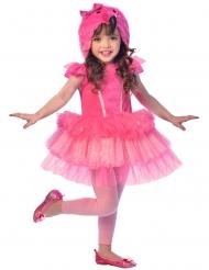 Entzückendes Flamingo-Kinderkostüm rosa