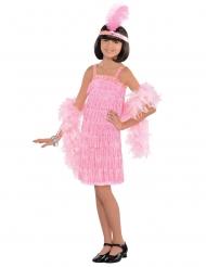Charleston Kostüm für Kinder rosa