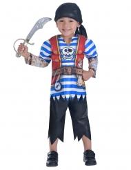 Piratenkostüm für Jungen blau-weiss