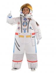 Aufblasbares Astronauten-Kostüm für Kinder weiss-bunt
