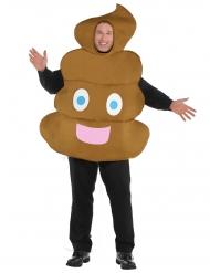 Lustiger Kothaufen Kostüm für Erwachsene braun Plus Size