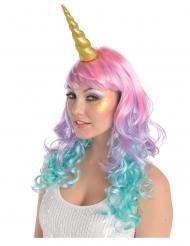 Einhorn-Kopfschmuck Kostümzubehör Horn gold