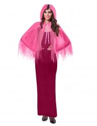Flamingo-Umhang Tierisches-Zubehör für Erwachsene pink-schwarz