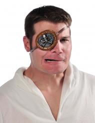 Piraten-Augenklappe Kostüm-Zubehör für Seeräuber grau-braun