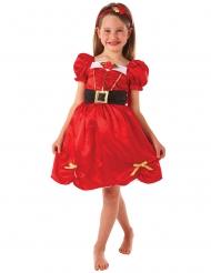 Weihnachtliches Prinzessinnen-Kostüm für Mädchen rot-schwarz