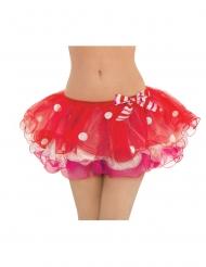 Weihnachtlicher Petticoat Tutu für Damen rot-weiss