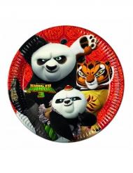Kung Fu Panda 3™-Pappteller Partydekoration 8 Stück bunt 23cm