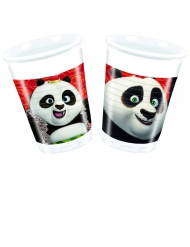 Kung Fu Panda™-Pappbecher Tischzubehör 8 Stück bunt 200 ml