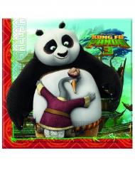 Kung Fu Panda 3™-Papierservietten 20 Stück bunt 33x33cm