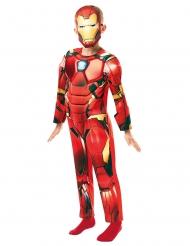 Iron Man™-Lizenz Kinderkostüm Deluxe Fasching rot-gelb