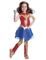 Wonder Woman™-Mädchenkostüm Lizenz-Kostüm rot-blau-gold
