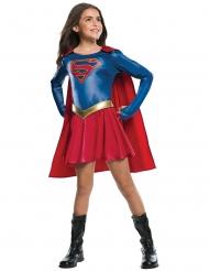 Supergirl™-für Mädchen Lizenzkostüm Fasching blau-rot-gold
