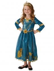 Merida™-Mädchenkostüm Prinzessinnen-Kleid blau-gold