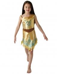 Disney™-Pocahontas Kinderkostüm Lizenz Indianerin gold-braun