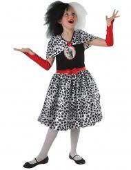 Cruella™-Kinderkostüm für Mädchen Lizenz schwarz-weiss-rot