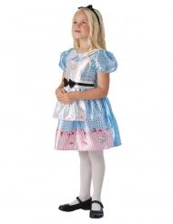 Kleine Alice im Wunderland™-Kinderkostüm Lizenz blau-weiss