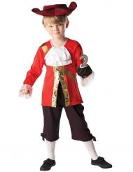 Captain Hock™-Lizenzkostüm für Kinder Pirat rot-schwarz